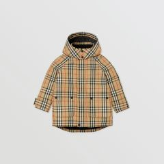 Vintage Check Down-filled Hooded Coat