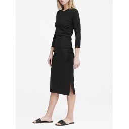 Soft Ponte Ruched T-Shirt Dress