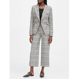 Double-Breasted Plaid Blazer