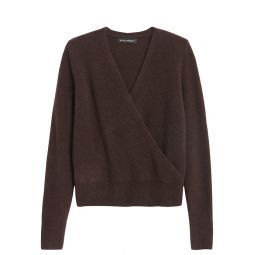 Aire Cropped Wrap-Effect Sweater