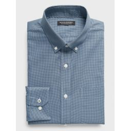 Standard-Fit Non-Iron Dress Shirt with Button-Down Collar