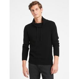 Italian Wool-Blend Funnel-Neck Sweater