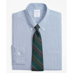 Stretch Regent Fitted Dress Shirt, Non-Iron Mini-Windowpane