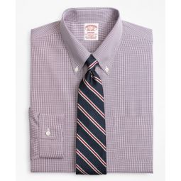 Stretch Madison Classic Dress Shirt, Non-Iron Micro-Check   Brooks Brothers
