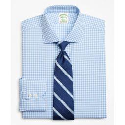 Stretch Milano Slim-Fit Dress Shirt, Non-Iron Royal Oxford Gingham