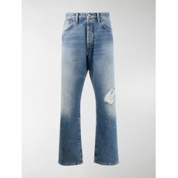 Acne Studios distressed straight-leg jeans blue