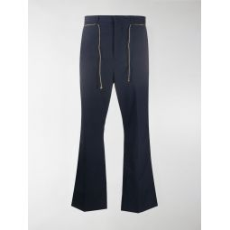 Acne Studios flared low-rise trousers blue