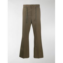 Acne Studios flared low-rise trousers green