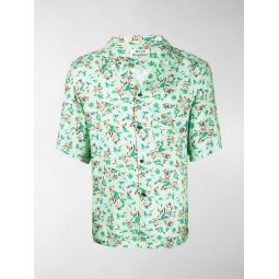 Acne Studios floral print short sleeve shirt green