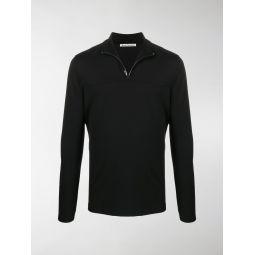 Acne Studios half-zip interlock sweatshirt black