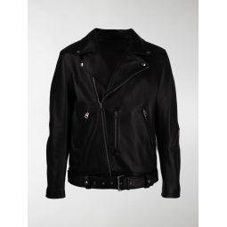 Sale Acne Studios off-centre zipped biker jacket black