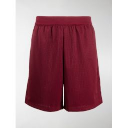 adidas perforated track shorts red