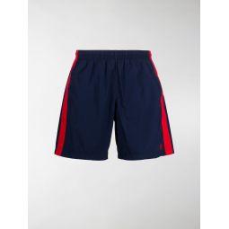 Sale Alexander McQueen side stripe swim shorts blue