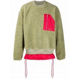 AMBUSH layered-effect jumper green
