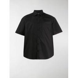 Sale Balenciaga logo collar cotton shirt black