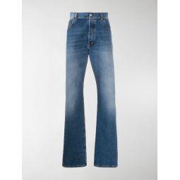 Sale Balenciaga logo patch straight-leg jeans blue