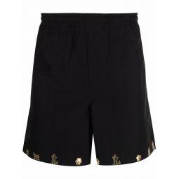 BODE embellished-hem track shorts black