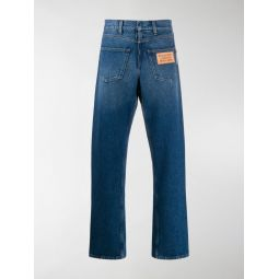 Sale Burberry back-to-front straight leg jeans blue