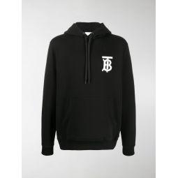 Burberry chest logo hoodie black