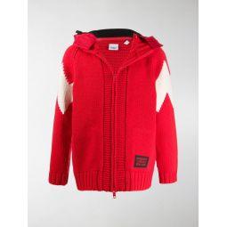 Sale Burberry detachable hood cardigan red