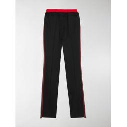 Sale Burberry double-waist track pants black