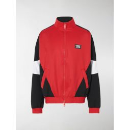 Sale Burberry logo applique track jacket red