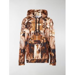 Sale Burberry Submarine print hoodie brown