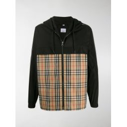 Sale Burberry Vintage check hooded jacket black
