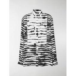 Sale Burberry Watercolour print oversized shirt black