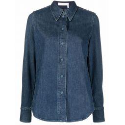 Chloe denim button-up shirt blue