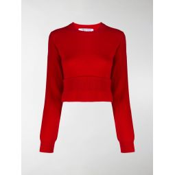 Comme Des Garcons Comme Des Garcons cropped sweater red