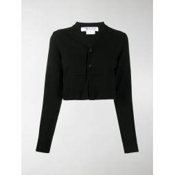 Comme Des Garcons Comme Des Garcons cropped V-neck cardigan black