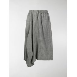 Comme Des Garcons Comme Des Garcons draped hounstooth skirt black