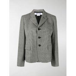 Comme Des Garcons Comme Des Garcons fitted check print blazer black