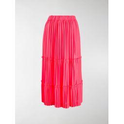 Comme Des Garcons high-waist tiered skirt pink