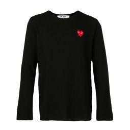 Comme Des Garcons Play logo patch jumper black