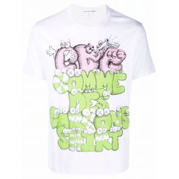 Comme Des Garcons Shirt CDG S KAWS FRNT PRNT PTRN 4 SS TEE WHT white