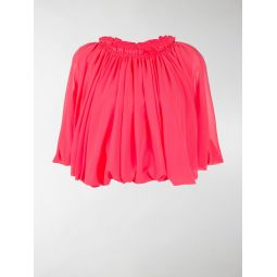 Comme Des Garcons short-sleeved pleated top pink