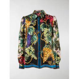 Dolce & Gabbana Autumn print buttoned shirt black