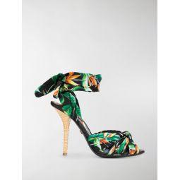 Sale Dolce & Gabbana botanical-print sandals green