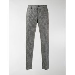 Dolce & Gabbana checked tailored trousers grey