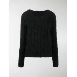 Dolce & Gabbana knitted V-neck jumper black