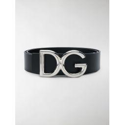 Dolce & Gabbana logo buckle belt black