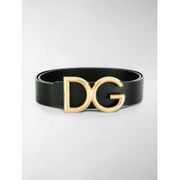 Dolce & Gabbana logo plaque belt black