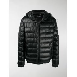 Dolce & Gabbana logo plaque puffer jacket black