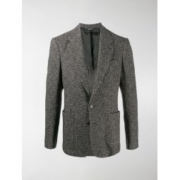 Dolce & Gabbana melange single-breasted blazer black