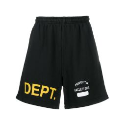 GALLERY DEPT. logo-print track shorts black