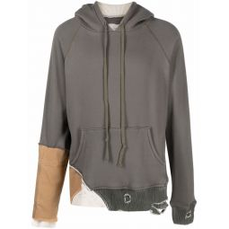 Greg Lauren Fragment cotton hoodie green
