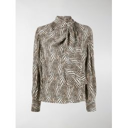 Isabel Marant abstract-print blouse neutrals