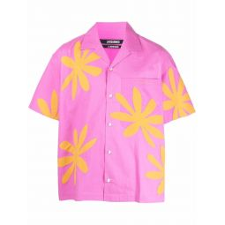 Jacquemus Jean floral-print shirt pink